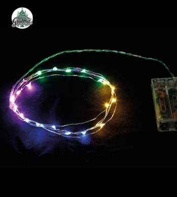 G22057 HILO 2 MTS. 20 LED MULTICOLOR. PILAS