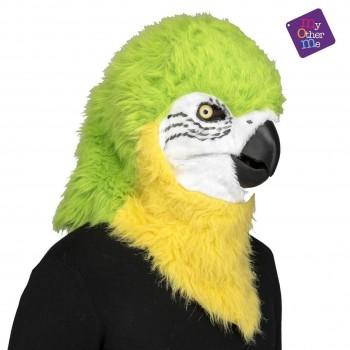205630 Máscara Con Mandíbula Móvil Loro Verde