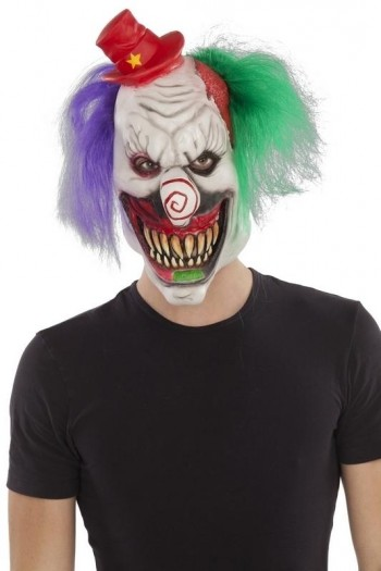 207976 Full Clown Latex Mask