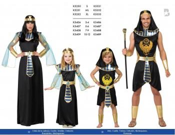 FAMILIA EGIPCIOS NEGROS
